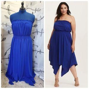 Torrid - Blue Tubetop Dress